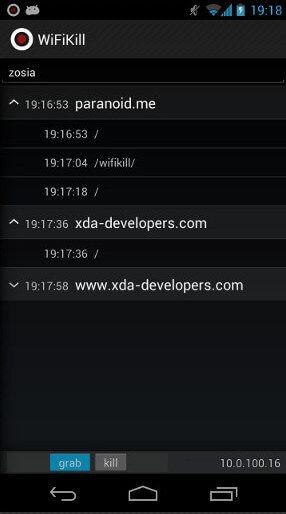 wifi kill app kill